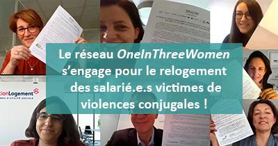 Le réseau OneInThreeWomen s'engage pour le relogement des salarié.e.s victimes de violences conjugales !