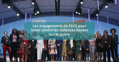Découvrez les engagements de La Fondation FACE pour lutter contre les violences basées sur le genre ! !